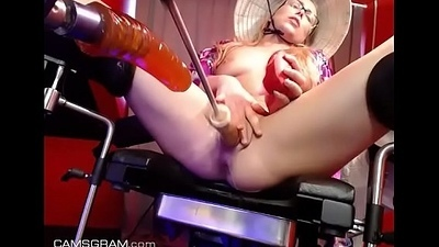 www.girls4cock.com *** Hot Asian Dutch Teen On Her BDSM FuckMachine
