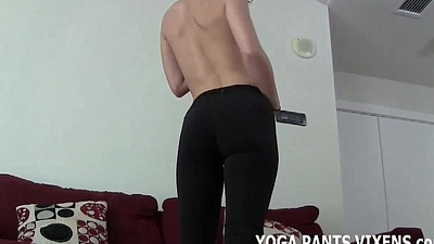 These tight yoga pants make my ass look amazing JOI