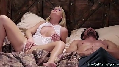 Horny Wife Wakes Up Husband for Sex