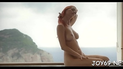 Breathtaking solo girl in a sexy play