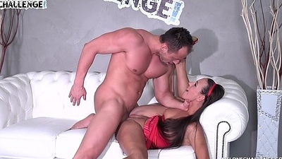Melonechallenge Muscle guy fed Mea Melone with his sweet cum and she swallow