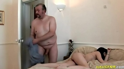 CFNM - Two Latina Girls Jerk Off Old Cock