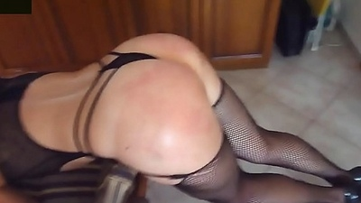Amateur hooded BDSM girl slapped and fucked - WATCH LIVE CAM AT ASS-SPANKING.COM