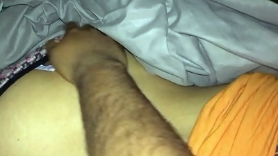 Fingering sleeping friends wife