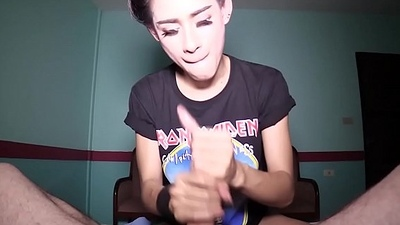 Ladyboy Ally Frottage and Handjob
