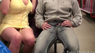Big tits star Stella Fox  fucked hard in PUBLIC subway