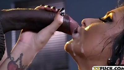 Big boobs pornstar cum showered on face
