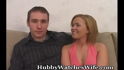Hubby Watches In Amazement