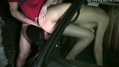 Kitty Jane stuck her ass out of a car window in PUBLIC for strangers to fuck her